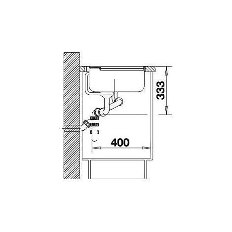1518831 axia ii 6 s blanco lavello 100x51 2 vasche sgocciolatoio dx silgranit grigio roccia