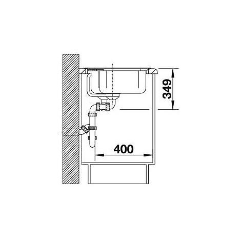 1518843 nova 8 grigio roccia blanco lavello 86x50 2 vasche senza sgocciolatoio silgranit