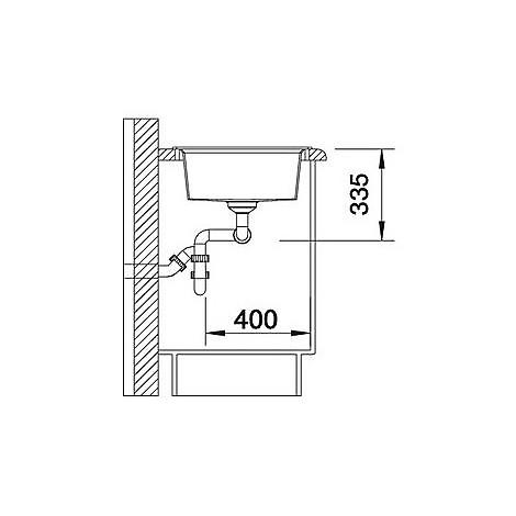 1518863 lexa 8 grigio roccia blanco lavello 78x50 2 vasche senza sgocciolatoio silgranit