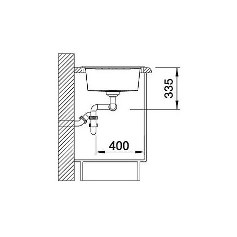 1518865 lexa 8 s blanco lavello 116x50 2 vasche reversibile silgranit grigio roccia