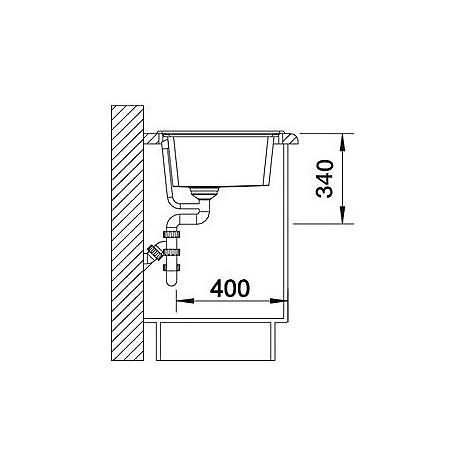 1518906 plenta grigio roccia blanco lavello 86x50 1 vasca senza sgocciolatoio silgranit sopratop