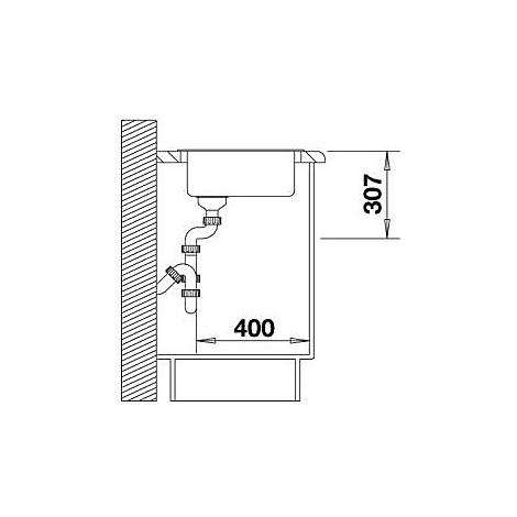 1518910 rondo grigio roccia blanco lavello diam 43 1 vasca circolare silgranit sopratop