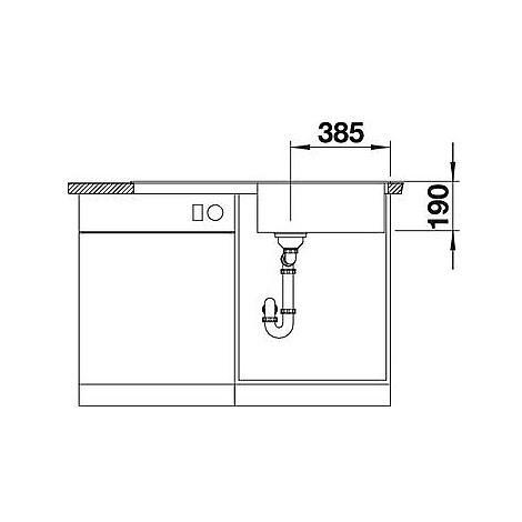 1518943 zia xl 6 s grigio blanco lavello 100x50 1 vasca reversibile silgranit sopratop