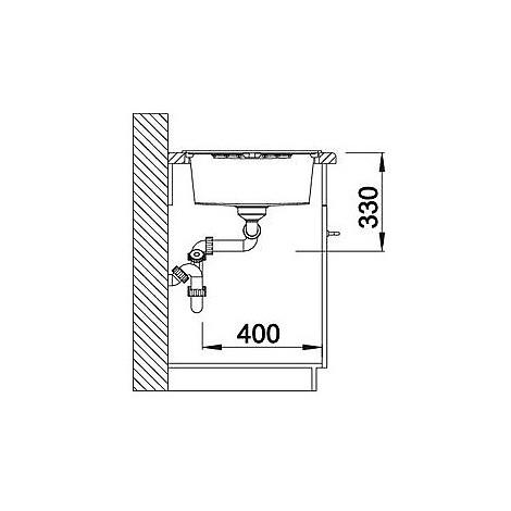 1518946 zia 8 s blanco lavello 116x50 2 vasche reversibile silgranit sopratop grigio roc