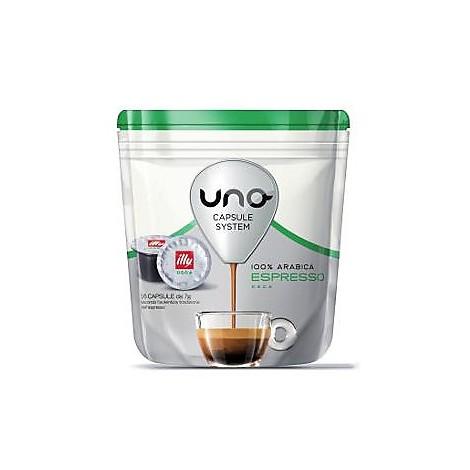 """16 capsule caffe' per """"macchina del caffè uno"""" gusto decaffeinato illycaffe"""