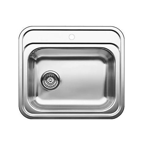 1611900 dana blanco lavello 58x51 1 vasca senza sgocciolatoio inox