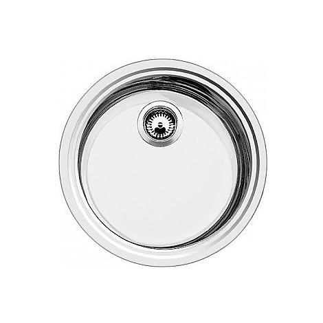 1613306 rondosol blanco lavello 46x39 1 vasca circolare inox