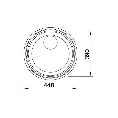 1614647 rondosol-if blanco lavello 46x39 1 vasca circolare inox