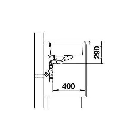 1616529 axis ii 6 s-if blanco lavello 100x51 2 vasche sgocciolatoio a sinistra inox satinato