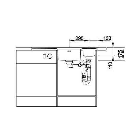 1616530 axis ii 6 s-if blanco lavello 100x51 2 vasche sgocciolatoio a destra inox satinato