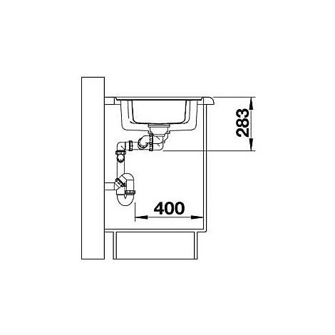 1616852 classic pro 6 s-if blanco lavello 100x51 2 vasche sgocciolatoio a sinistra inox
