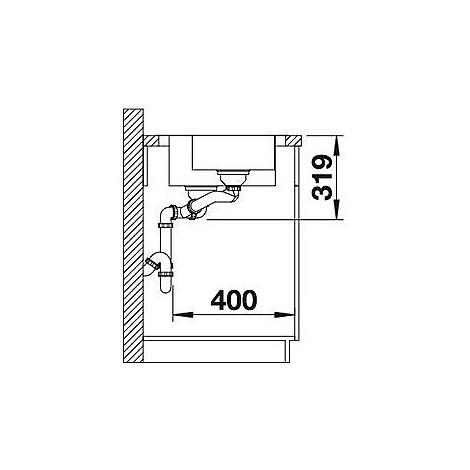 1618487 median 6 s-if blanco lavello 100x50 2 vasche sgocciolatoio a sinistra inox