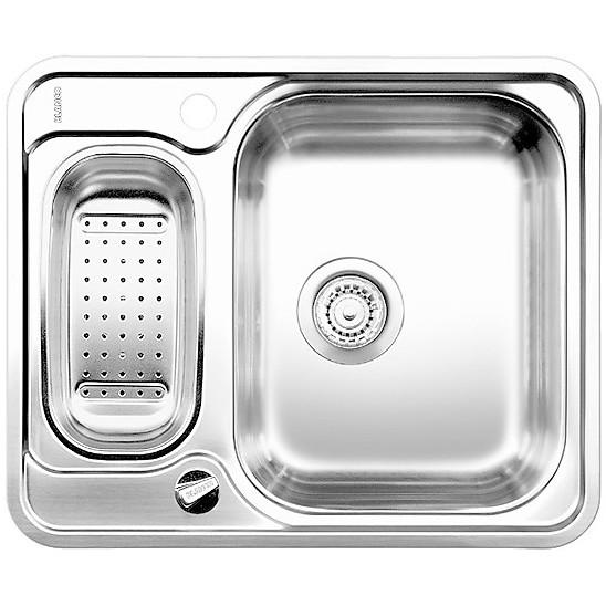 1619426 lantos 6 blanco lavello 61x50 2 vasche senza sgocciolatoio inox