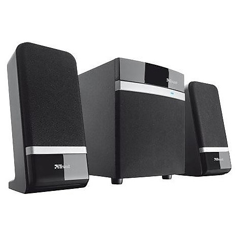 18925 trust raina 2.1 audio speaker + subwoofer