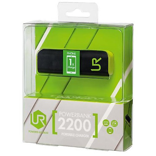 20068 trust powerbank black 2200 mah