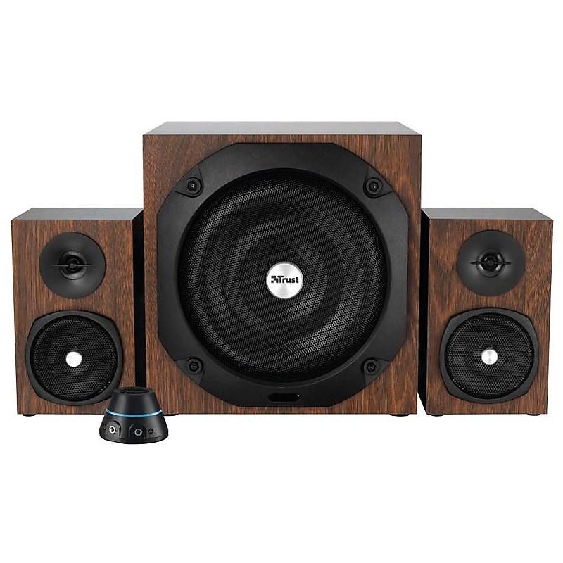 20244 trust vigor 2.1 audio speaker brown