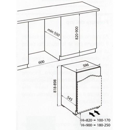 2030000  foster frigorifero combinato statico classe a+ 130 litri