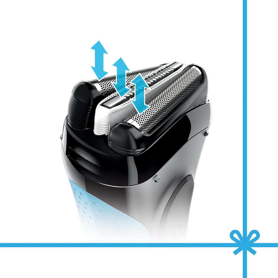 3040kitprecision braun rasoio elettrico series 3