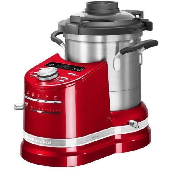 5kcf0104eer kitchenaid artisan robot multifunzione con cottura rosso imperiale preparazione - Robot da cucina con cottura ...