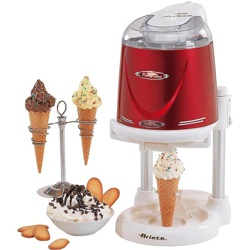 634 ariete gelatiera 22w 1lt softy ice-cream rosso