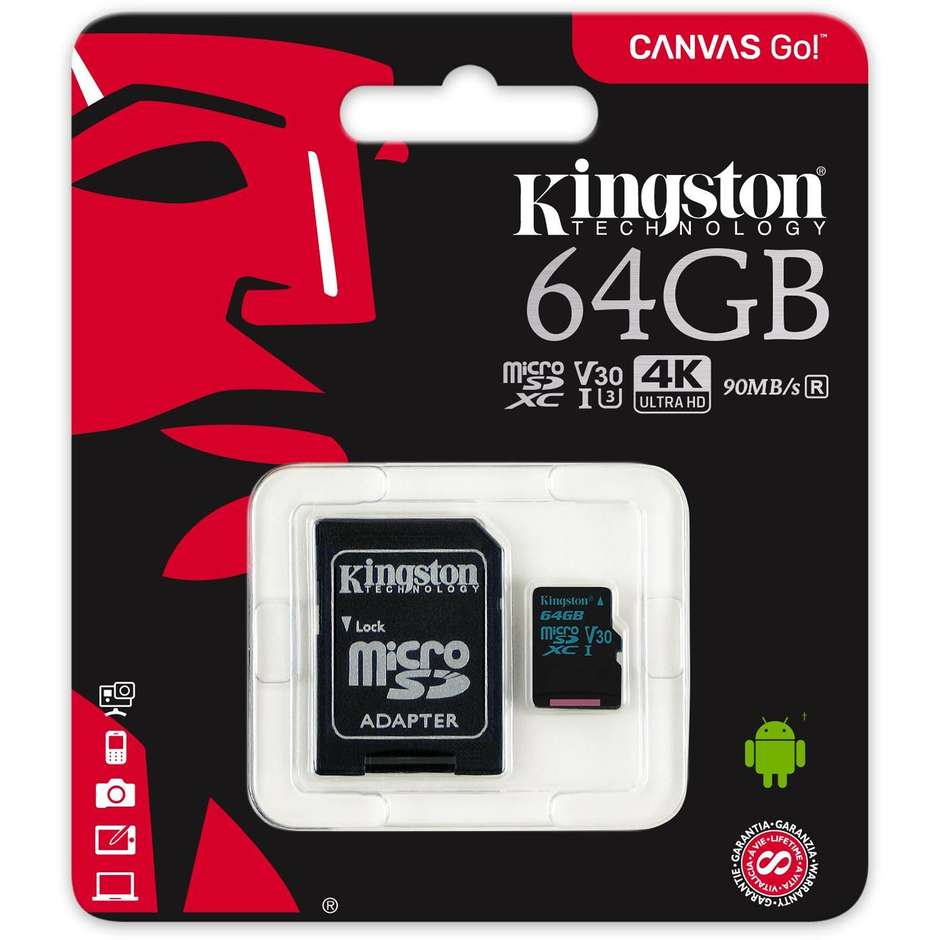 64gb microsdxc canvas go 90r/45w