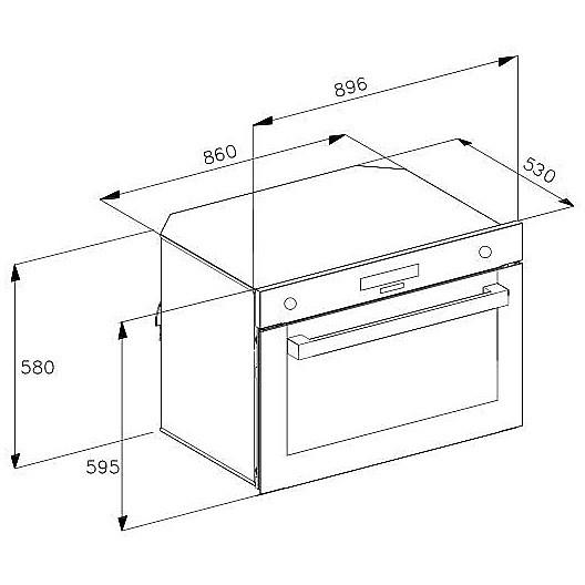 7126046 ks-90 foster forno da incasso 90 cm inox spazzolato ...