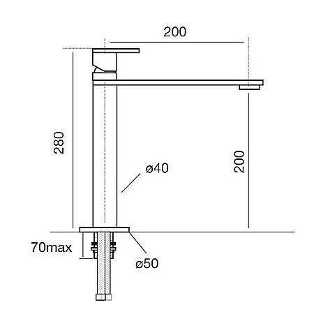 9106 cm 9106misccrm miscelatore cromato