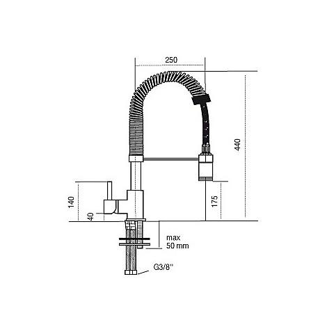 9107 cm 9107misccrm miscelatore cromato con mollettone basso e luce