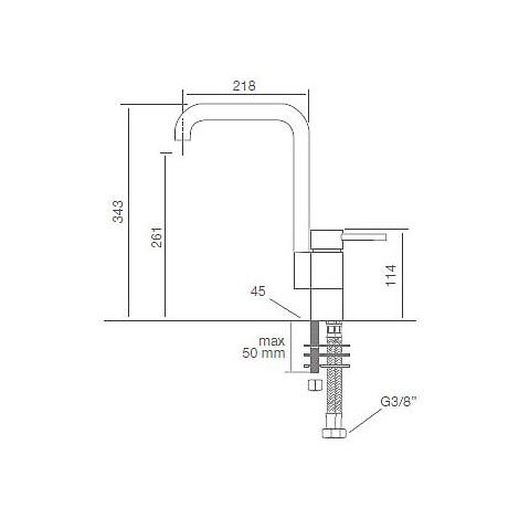 9200 cm 9200misccrm miscelatore cromato canna girevole