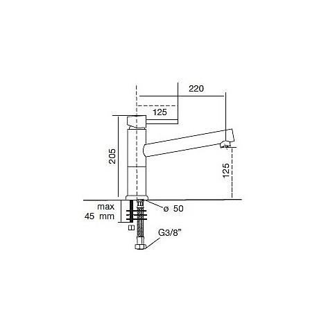 9204 cm 9204misccrm miscelatore cromato canna girevole