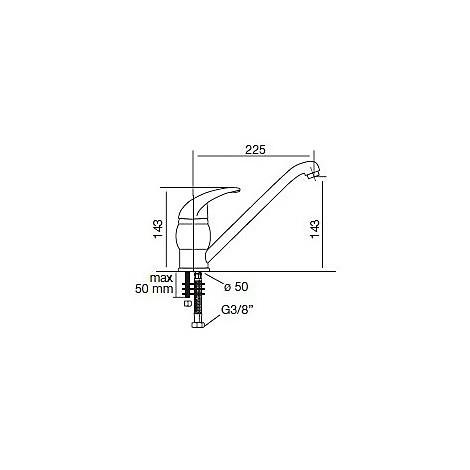 9207 cm 9207misccrm miscelatore cromato canna girevole