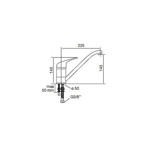 9211 cm 9211misccrm miscelatore cromato canna girevole