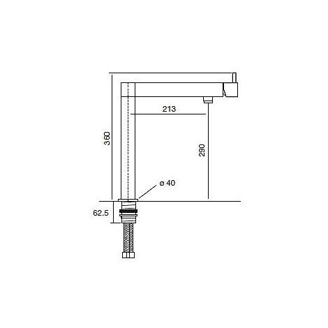 9223 cm 9223miscnik miscelatore nikel spazzolato canna girevole