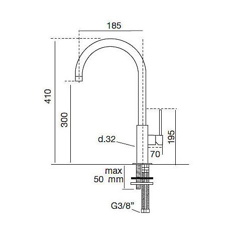 9231 cm 9231misccrm miscelatore cromato canna girevole