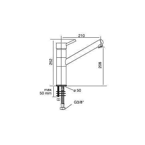 9300 cm 9300misccrm miscelatore cromato canna girevole