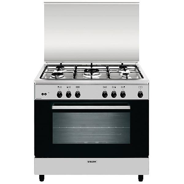 a-965gi glem gas cucina 90x60 5 fuochi a gas forno a gas grill elettrico classe a inox