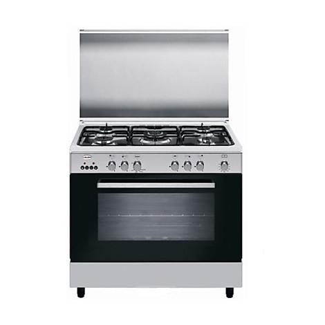 a96 gif3 glem gas cucina 90cm 4 fuochiforno gas ventilato inox
