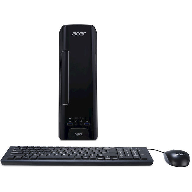 Acer AXC-730 Pc Desktop Processore Intel Celeron  J3355 Ram 4 Gb Hard Disk 1 Tb colore Nero