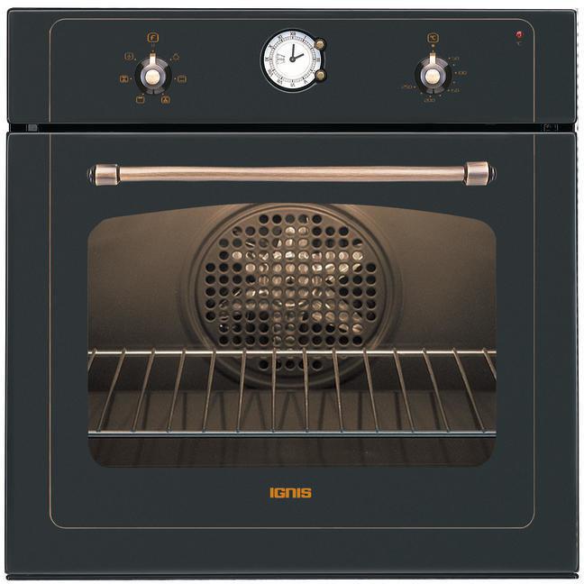 aks-236/na ignis forno da incasso nero classe a 6 funzioni