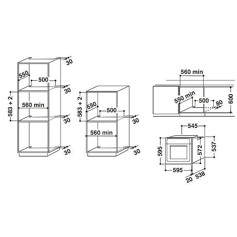 aks-290/ix ignis forno da incasso inox classe a