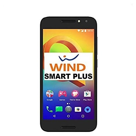 """Alcatel Wind smart plus Smartphone 5"""" HD memoria 16 GB Fotocamera 13 MP Android colore Nero"""