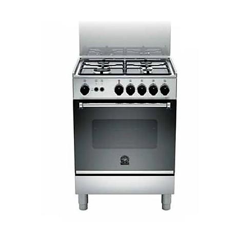 am-14071dx la germania cucina 60 cm 4 fuochi 1 forno a gas inox