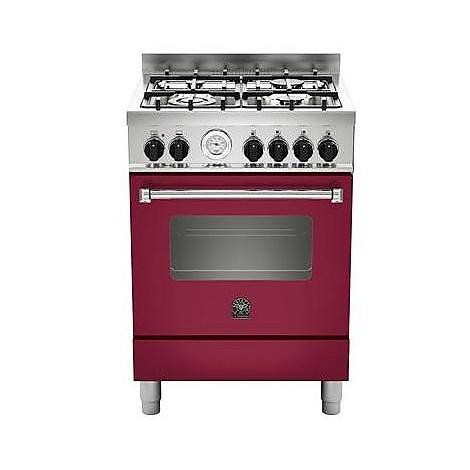 am-64c61bvit la germania cucina 60 cm 4 fuochi 1 forno elettrico vino