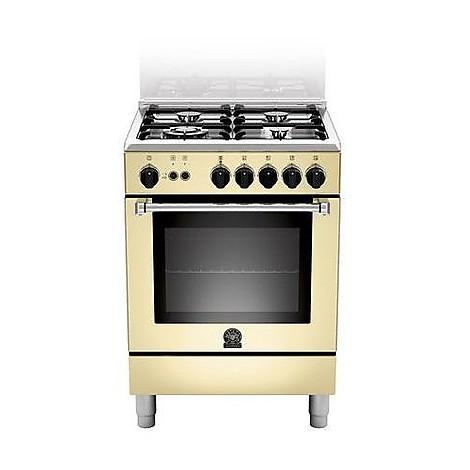 am-64c61ccrt la germania cucina 60 cm 4 fuochi 1 forno elettrico crema