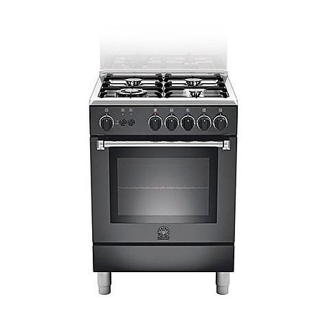 am-64c61cnet la germania cucina 60 cm 4 fuochi 1 forno elettrico nera