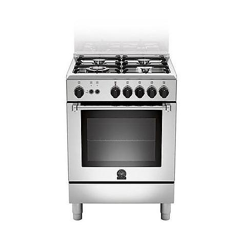 am-64c61cxt la germania cucina 60 cm 4 fuochi 1 forno elettrico inox