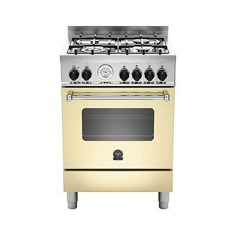 am-64c71bcr la germania cucina 60 cm 4 fuochi 1 forno a gas crema