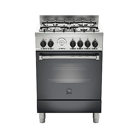 am-64c71bne la germania cucina 60 cm 4 fuochi 1 forno a gas nera
