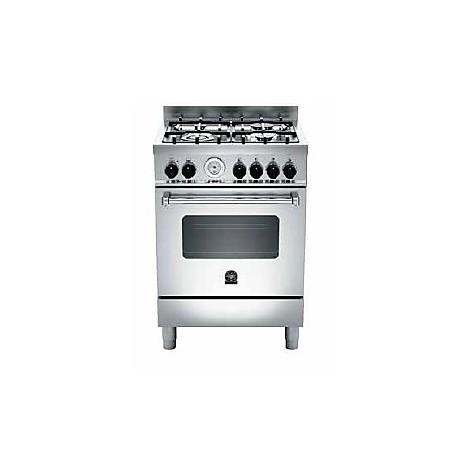 am-64c71bx la germania cucina 60 cm 4 fuochi 1 forno a gas inox