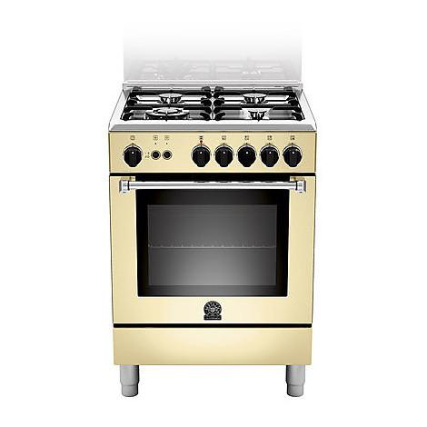 am-64c71ccr la germania cucina 60 cm 4 fuochi 1 forno a gas crema